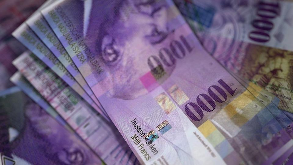 Billetes de 1000 francos suizos