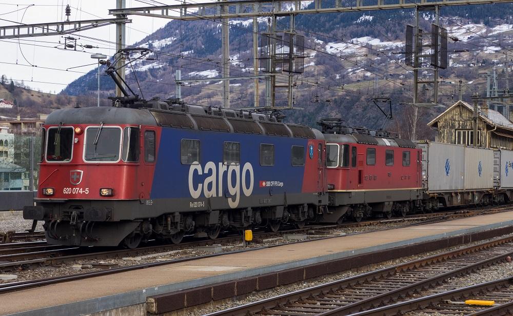 Tren mercancías de SBB CFF FFS Cargo