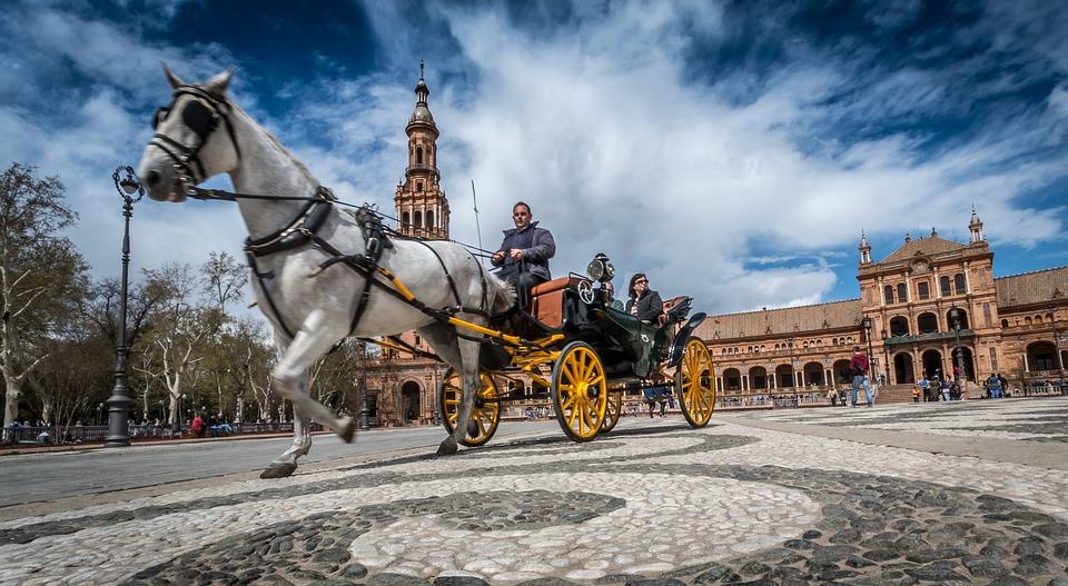 Carro con caballo en Sevilla