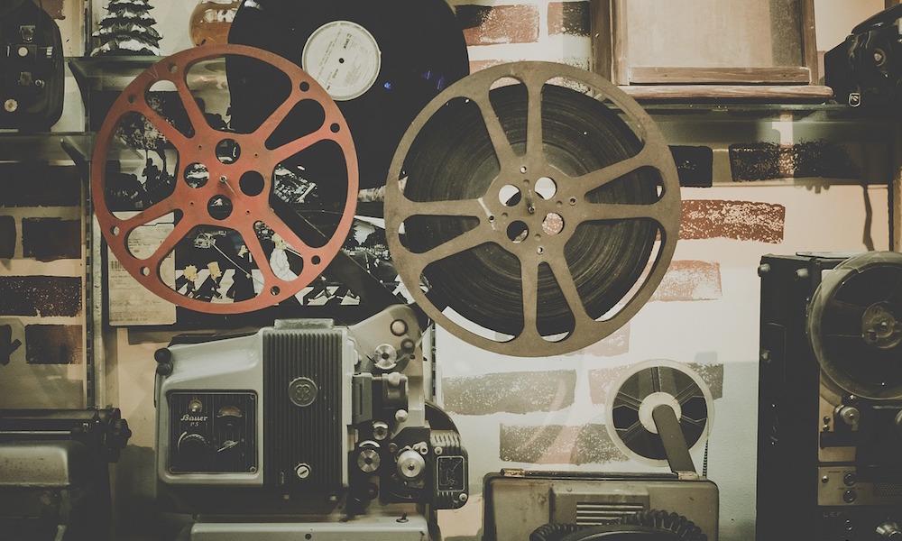 Proyector película de cine