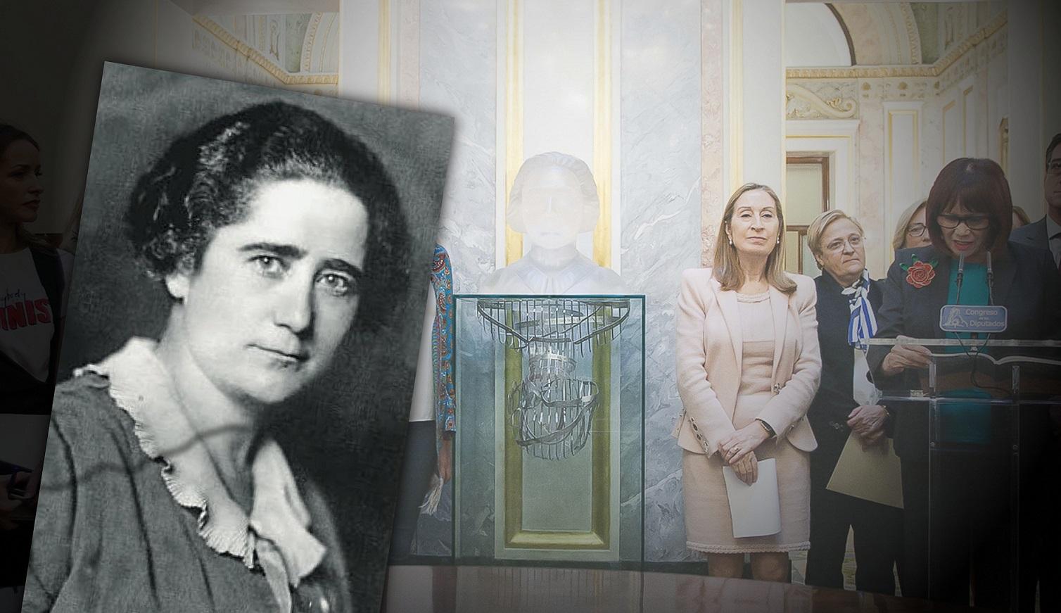 Busto de Clara Campoamor en el Palacio del Congreso de los Diputados