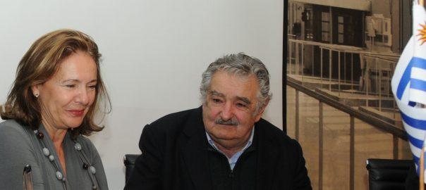 Aurora Díaz-Rato Revuelta con el presidente José Mujica de Uruguay