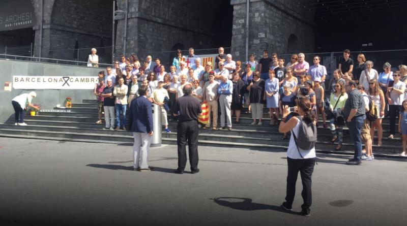 Minuto de silencio en Lausanne tras los atentados de Cataluña