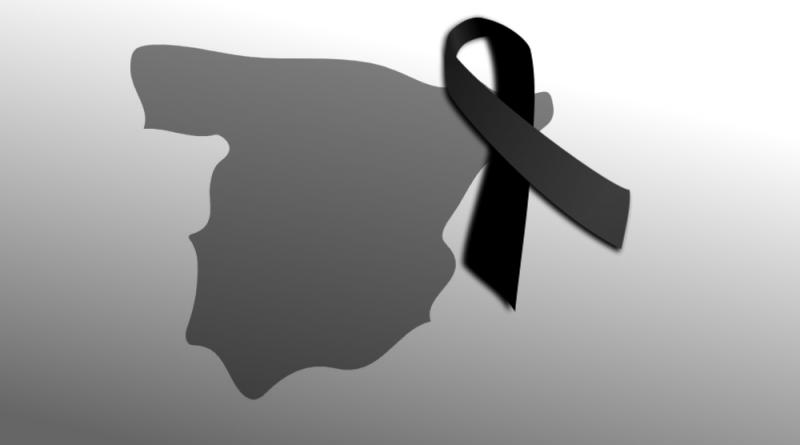 España con crespón negro