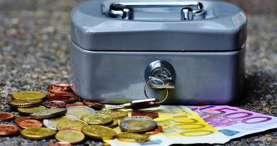 Caja con dinero en euros