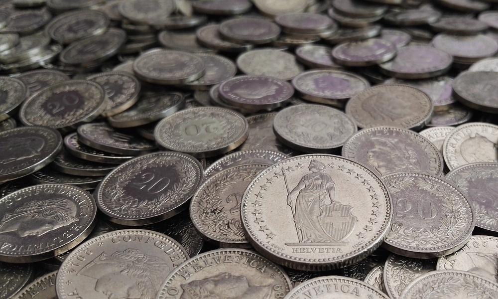 Francos suizos en monedas