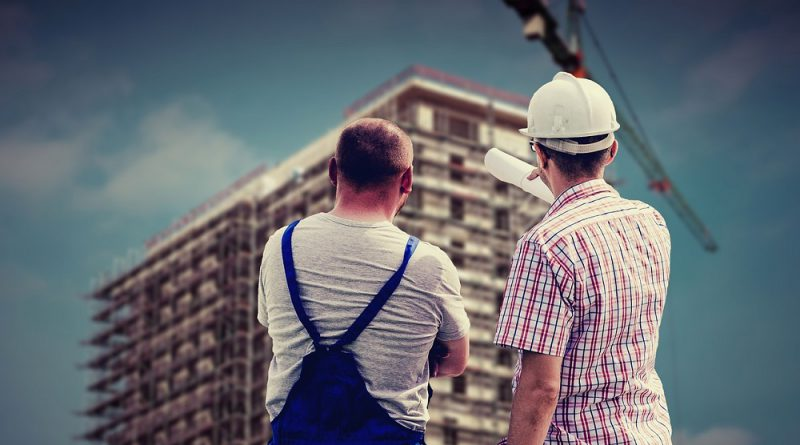 Trabajadores de la construcción en una obra